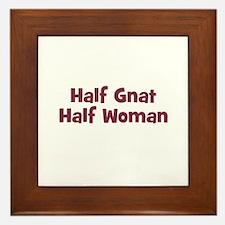 Half GNAT Half Woman Framed Tile