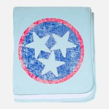 Faded Tennessee American baby blanket
