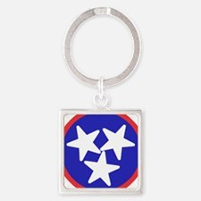 Tennessee American Square Keychain