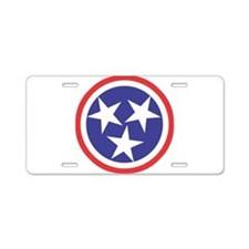 Captain Tennessee Aluminum License Plate