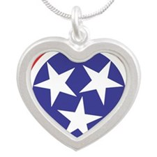 Captain Tennessee Silver Heart Necklace