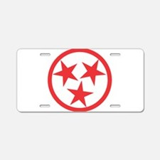 Tennessee Red Aluminum License Plate