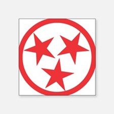 "Tennessee Red Square Sticker 3"" x 3"""