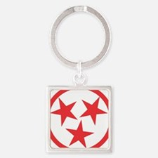 Tennessee Red Square Keychain