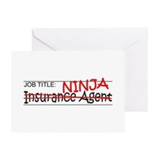 Job Ninja Insurance Greeting Card