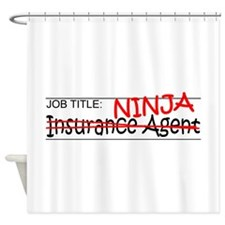 Job Ninja Insurance Shower Curtain