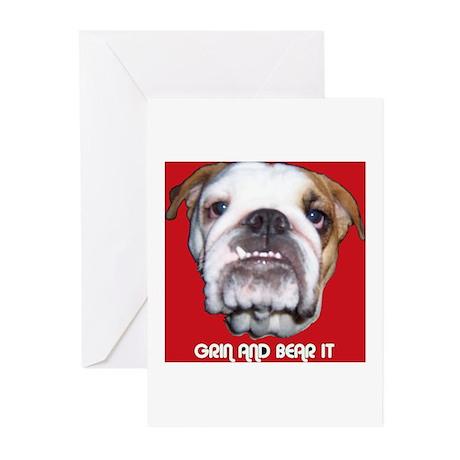 BULL DOG Greeting Cards (Pk of 10)