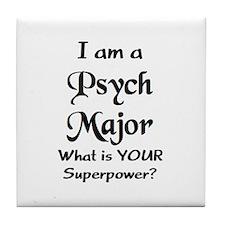 psych major Tile Coaster