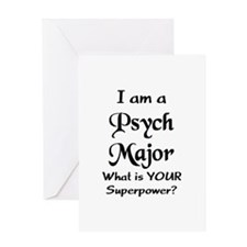 psych major Greeting Card