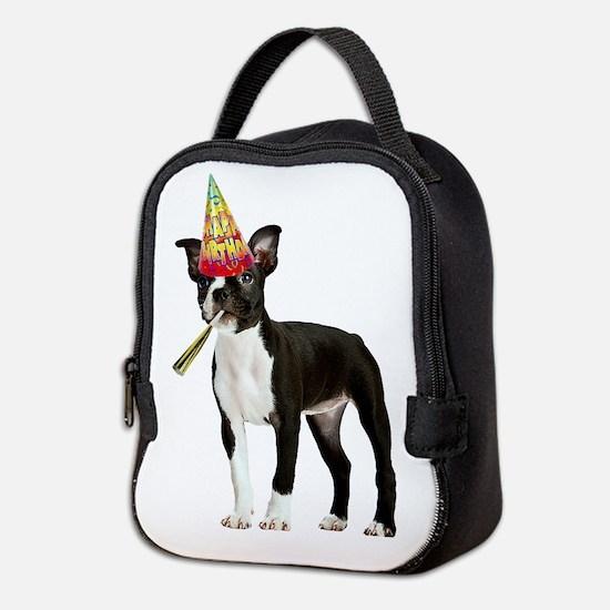 Boston Terrier Birthday Neoprene Lunch Bag