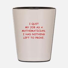 math joke Shot Glass