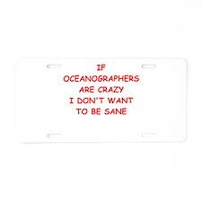 oceanographer Aluminum License Plate