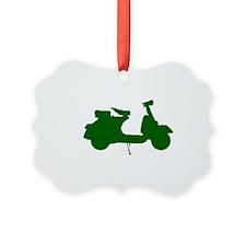 Vespa 10 x 6 Green.png Ornament