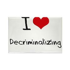 I Love Decriminalizing Rectangle Magnet