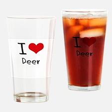I Love Deer Drinking Glass