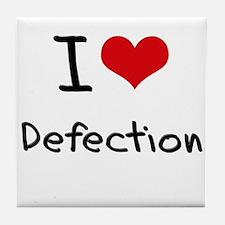 I Love Defection Tile Coaster