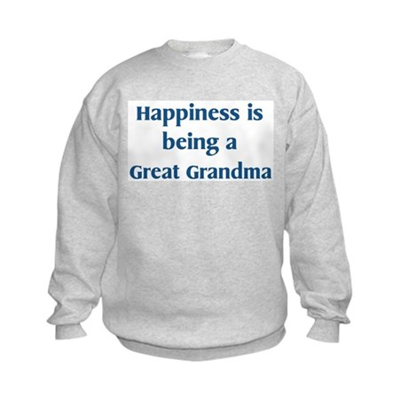 Great Grandma : Happiness Kids Sweatshirt