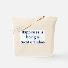 Great Grandma : Happiness Tote Bag