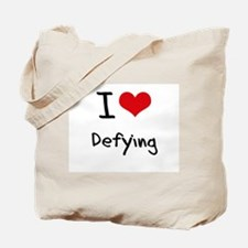 I Love Defying Tote Bag