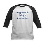 Grandmother : Happiness Kids Baseball Jersey