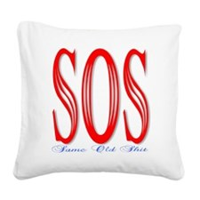 S.O.S. Square Canvas Pillow