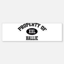 Property of Hallie Bumper Car Car Sticker