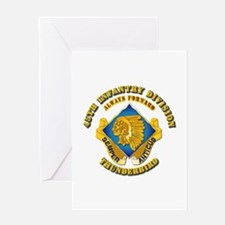 Army - 45th Infantry Division - DUI Greeting Card