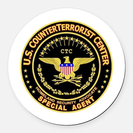 Funny Terrorist Round Car Magnet