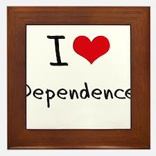 I Love Dependence Framed Tile