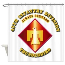 Army - 45th Infantry Division - SSI Shower Curtain