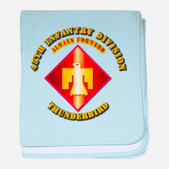 Army - 45th Infantry Division - SSI baby blanket