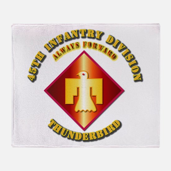 Army - 45th Infantry Division - SSI Throw Blanket