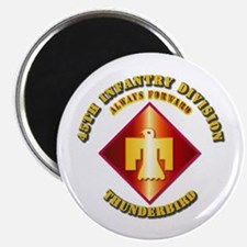 """Army - 45th Infantry Division - SSI 2.25"""" Magnet ("""