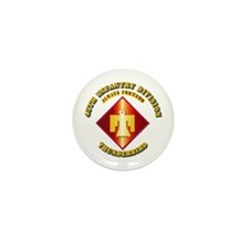 Army - 45th Infantry Division - SSI Mini Button (1