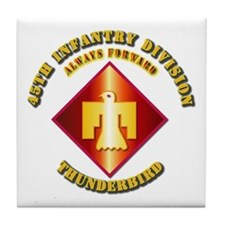 Army - 45th Infantry Division - SSI Tile Coaster