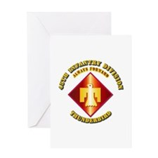 Army - 45th Infantry Division - SSI Greeting Card