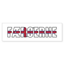 Faroes (Danish) Car Sticker