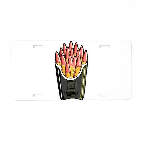 Freedom Fries Aluminum License Plate