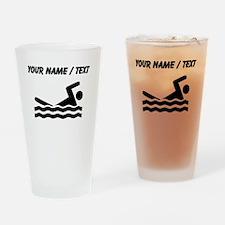 Custom Swimming Drinking Glass