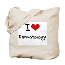 I Love Dermatology Tote Bag