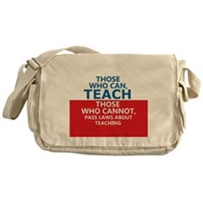 Those Who Can, Teach Messenger Bag