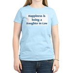 Daughter In Law : Happiness Women's Pink T-Shirt