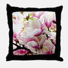 Sunlit Magnolias Throw Pillow