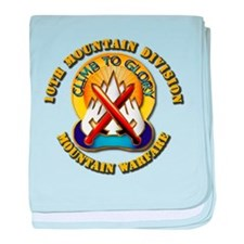 Emblem - 10th Mountain Division - DUI baby blanket