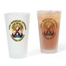 Emblem - 10th Mountain Division - DUI Drinking Gla