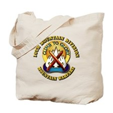 Emblem - 10th Mountain Division - DUI Tote Bag