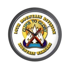 Emblem - 10th Mountain Division - DUI Wall Clock