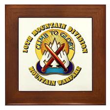 Emblem - 10th Mountain Division - DUI Framed Tile