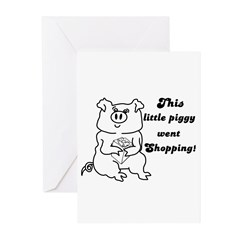 THIS LITTLE PIGGY CHRISTMAS Cards (Pk of 10)