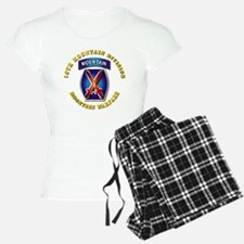 Emblem - 10th Mountain Division - SSI Pajamas